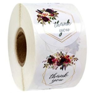Smile Thank You Stickers   TY008   Personalised Favour Stickers
