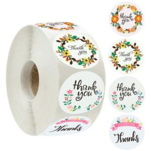 Kraft Thank You Circle Stickers | TY011 | Gift Labels