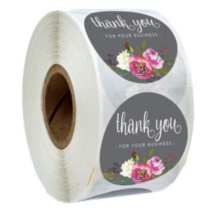 Single Color Thank You Sticker | TY016 | Thank You Circle Labels
