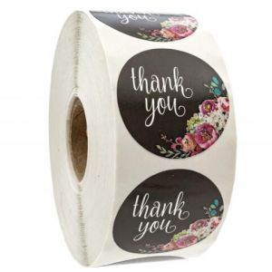 Kraft Dandelion Thank You Round Decals | TY019 | Personalized  Favour Stickers