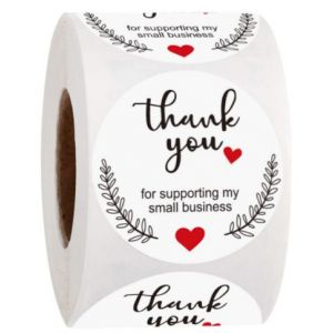 Thank You for Your Celebrating with Us Stickers   TY029   Labels for Party Favors