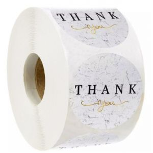 Beautiful Floral Circle Thank You Stickers | TY033 | Thank You Decals