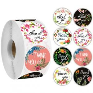 Flowers Thank You Stickers | TY044 | Thank Your labels