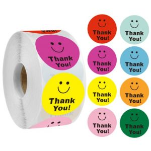 Eight color small face Thank You Stickers | TY048 | Thank Your labels
