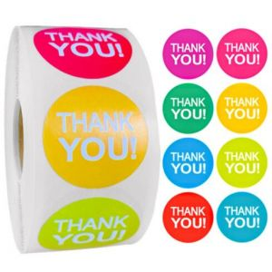 Eight Carton Colors Thank You Stickers | TY050 | Thank Your labels