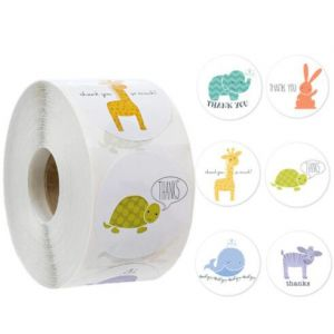 Animals Thank You Stickers | TY054 | Thank Your labels