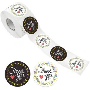 Black And White Thank You Stickers | TY058 | Thank Your labels