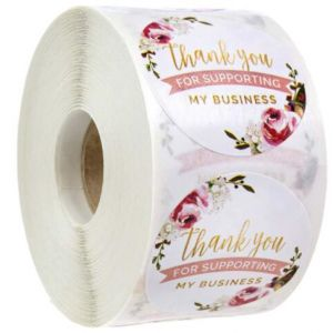 For Support Flowers Thank You Stickers | TY061 | Thank Your labels