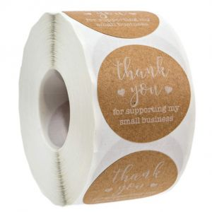 For Support My Small Business Kraft Thank You Stickers | TY069 | Thank Your labels
