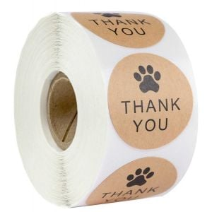 Paw Kraft Thank You Stickers | TY070 | Thank Your labels