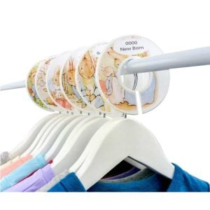 Peter Rabbit Wardrobe Dividers | Infant Closet Dividers | Closet Dividers
