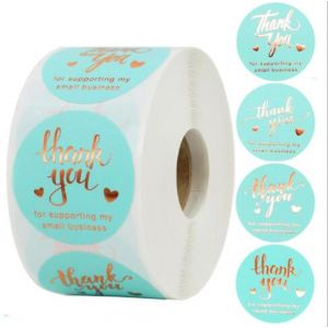 Tiffany Gold Foil Thank You Stickers | TY103 | Thank Your labels