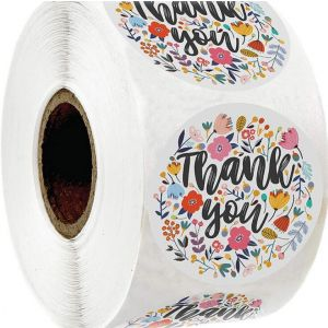 Floral Thank You Stickers | TY010 | Cheap Thank You Labels