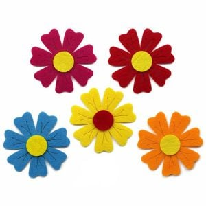 Felt Flower Stickers | Kids Craft Stickers