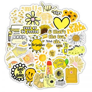 Yellow Sticker Phone Case | Vinyl Stickers for Phone Case