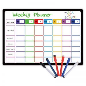 Weekly Planning Whiteboard | Magnetic Fridge Calendar | Magnetic Calendars