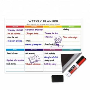Magnetic School Calendar | Calendar Date Magnets | Weekly Fridge Calendar