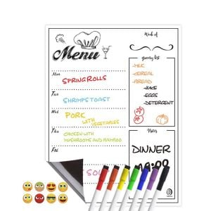 Weekly Menu Whiteboard | Weekly Fridge Calendar | Magnetic Calendars