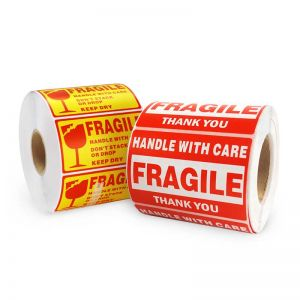 Fragile Sticker Roll | Label Paper Roll | Rectangle Roll Labels