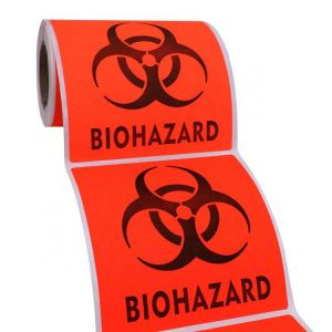 Biohazard Sticker Roll | Custom Printed Roll Labels | Roll Label Stickers