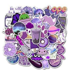 Cute Stickers Aesthetic | Purple Aesthetic Stickers | Printable Stickers Aesthetic