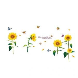 Sunflower Removable Wall Decals | Removable Wall Art Stickers