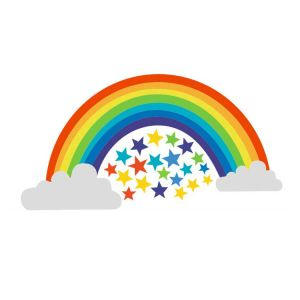 Rainbow Removable Wall Decals | Removable Decorative Stickers