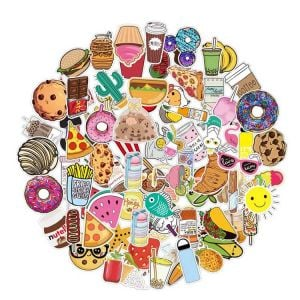 Aesthetic Vintage Stickers | Aesthetic Food Stickers | Retro Aesthetic Stickers
