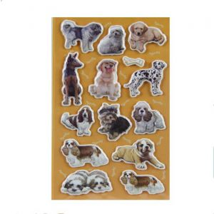 Puffy Dog Stickers | Puffy Stickers for Sale