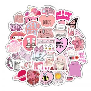 Light Pink Aesthetic Stickers | Aesthetic Pink Stickers | Cute Aesthetic Stickers Printable