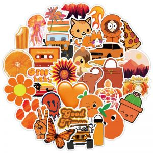 Aesthetic Orange Stickers | Sticker Vintage Aesthetic | Cute Aesthetic Stickers Printable