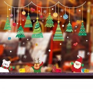 Christmas Tree Stickers | Christmas Wind Decals | Christmas Sticker