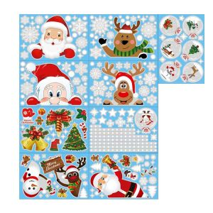 Holiday Window Clings | Festive Stickers | Holiday Window Decals