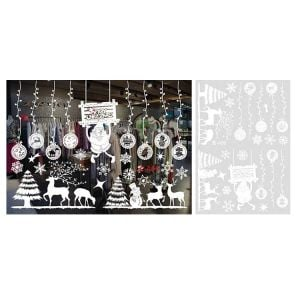 Christmas Shop Window Stickers | Christmas Decoration Sticker | Christmas Window Clings