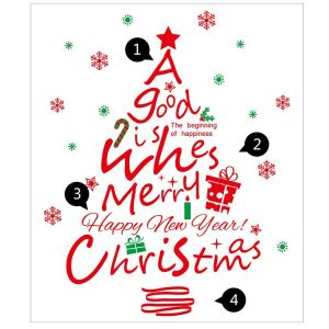 Christmas Tree Wall Decal | Christmas Tree Wall Sticker | Christmas Wall Stickers
