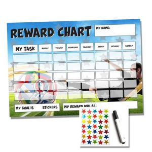 Football Reward Chart | Behavior Sticker Chart