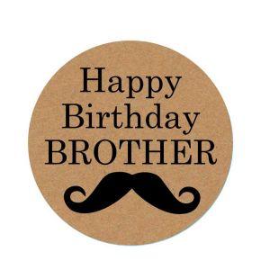 Happy Birthday Brother Sticker | Happy Birthday Sticker | Funny Birthday Stickers