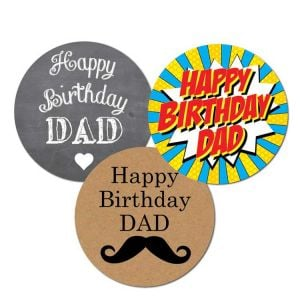 Happy Birthday Dad Stickers | Best Birthday Stickers | Happy Birthday Sticker