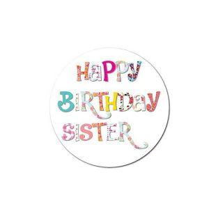 Happy Birthday Sister Sticker | Happy Birthday Sticker for Sister | Cute Birthday Stickers