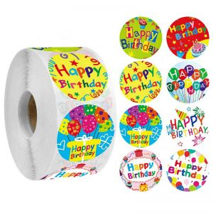 Happy Birthday Round Stickers | Happy Birthday Stickers for Cards | Best Birthday Stickers