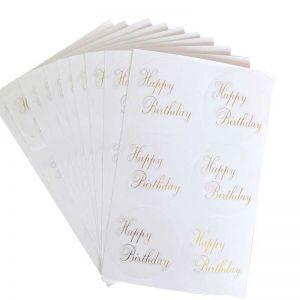Happy Birthday Transparent Stickers | Cute Happy Birthday Stickers | Best Birthday Stickers