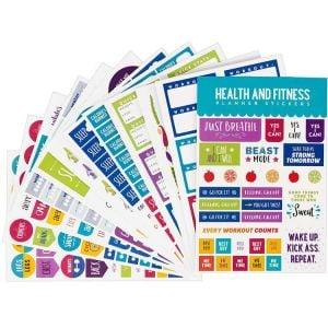 Fitness Planner Stickers | Habit Tracker Stickters | Planner Stickers