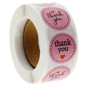 Pink Thank You Stickers | TY021 | Sticker of Thank You