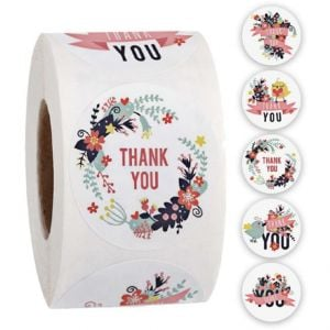 Custom Thank You Stickers | Cheap Thank You Labels on a Roll | TY034 Ready In Stock