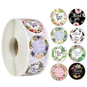 Custom Thank You Stickers | Cheap Thank You Labels on a Roll | TY035 Ready In Stock