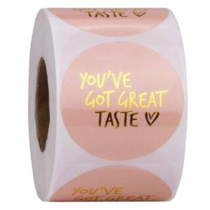 Pink Cute Thank You Round Labels | TY036 | Thank You Labels for Favors