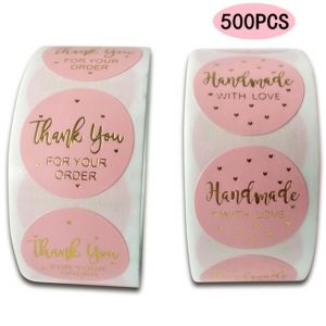 Pink Thank You for Your Order Stickers | TY039 | Thank Your Labels for Favors