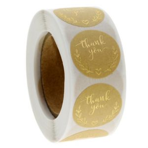 Gold Thank You Stickers| TY006 | Sticker for Thank You
