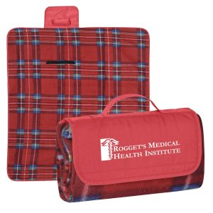 """Budget All Purpose Outdoor Plaid Custom Blankets - 47"""" x 52"""" Dependable Printing Company"""