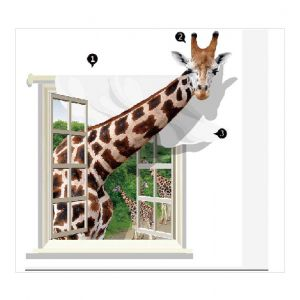 Animal Wall Stickers | 3D Vinyl Wall Stickers